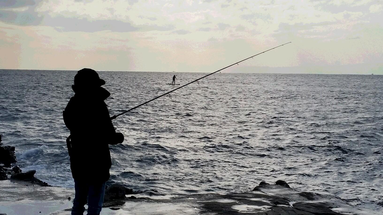 堤防海釣り 江ノ島
