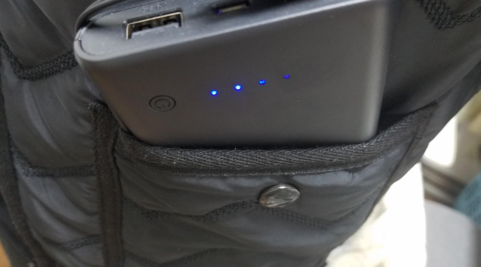 電熱ベストモバイルバッテリー